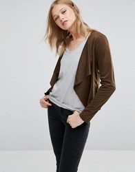 Only Faux Suede Jacket Kangaroo Brown