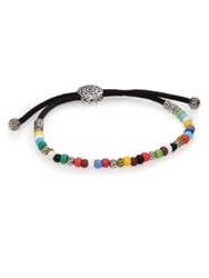 John Hardy Batu Classic Chain Sterling Silver And African Bead Bracelet Multicolor