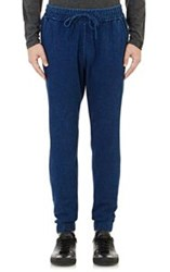 Ovadia And Sons Denim Drawstring Jogger Pants Blue