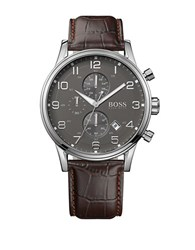 Hugo Boss Mens Brown Leather Strap Watch