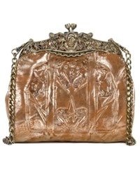 Patricia Nash Glitter Metallic Carmonita Small Frame Clutch Gold