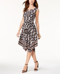 Jm Collection Embellished Handkerchief Hem Dress Created For Macy's Petite Fleur