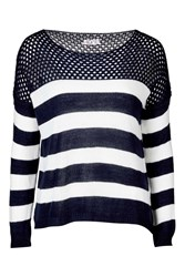 Stripe Jumper By Wal G Navy Blue