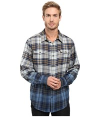 Marmot Dillon Flannel Long Sleeve Shirt Vintage Navy Men's Long Sleeve Button Up Beige