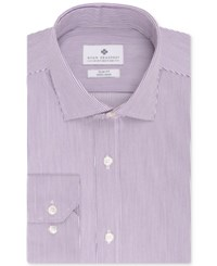 Ryan Seacrest Distinction Slim Fit Non Iron Purple Stripe Dress Shirt Only At Macy's