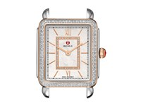 Michele Deco Ii Mid Diamond Rose Gold Diamond Dial Watch Two Tone White Mother Of Pearl