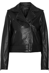 Rag And Bone Bowery Leather Biker Jacket Black