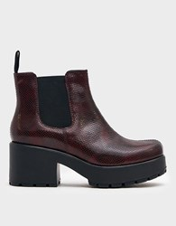 Vagabond Dioon Boot In Red Snake