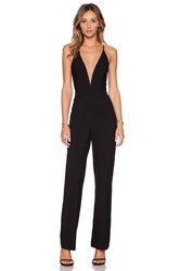 Mason By Michelle Mason Deep V Jumpsuit Black