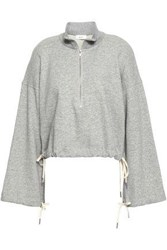 A.L.C. French Cotton Terry Sweatshirt Gray