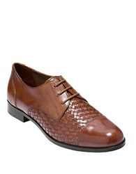 Cole Haan Jagger Leather Oxfords Brown