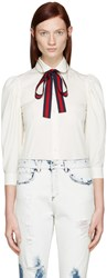 Gucci Ivory Ribbon Shirt