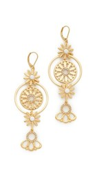 Kate Spade New York Golden Garden Linear Flower Earrings