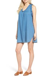 Ag Jeans Women's The Dixie Cotton Chambray Swing Dress New Blue