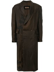 Uma Wang Double Breasted Fitted Coat Brown