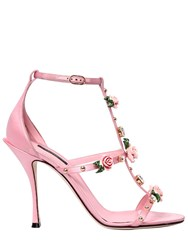 Dolce And Gabbana 105Mm Keira Embellished Satin Sandals Pink