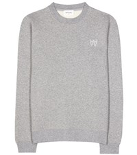 Wood Wood Wednesday Cotton Blend Sweater Grey