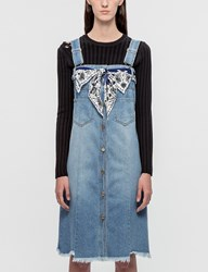 Sjyp Button Front Denim Dress