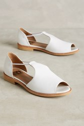 Anthropologie Fortress Of Inca Leia T Strap Flats White