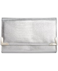 Style And Co. Exotic Diane Clutch Silver