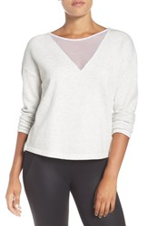 Alo Yoga Women's Moda Sweatshirt White Heather