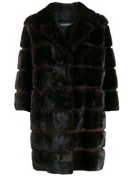 Simonetta Ravizza Mink Fur Coat Brown