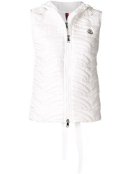 Moncler Hooded Quilted Padded Gilet White