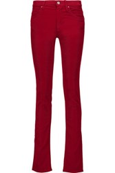 Etoile Isabel Marant Madlyn Cotton Blend Corduroy Slim Leg Pants Crimson