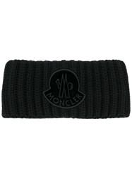 Moncler Cable Knit Head Band Black