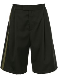 Public School Oversized Single Stripe Shorts Black