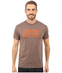 Marmot 74 Short Sleeve Tee Brown Heather Men's T Shirt