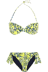 Matthew Williamson Escape Leopard Print Bandeau Bikini