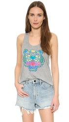 Kenzo Relaxed Tiger Tank Light Grey
