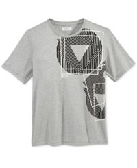 William Rast Men's Graphic Print T Shirt Gray