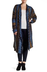 14Th And Union Long Wavy Cardigan Plus Size Gray