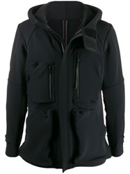 Devoa Multi Pocket Hooded Jacket Black