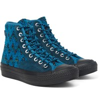 Converse Missoni All Star Chuck '70 Hiker Boucle And Suede Sneakers Petrol