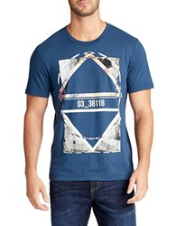 William Rast Graphic Cotton Tee Blue Opal