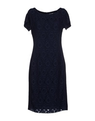 Nine Knee Length Dresses Dark Blue