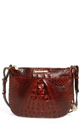 Brahmin Melbourne Tara Leather Crossbody Bag Brown Pecan