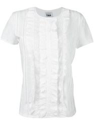 Twin Set Eyelet Lace T Shirt White
