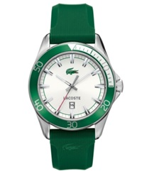 Lacoste Watch Men's Sport Navigator Green Rubber Strap 2010550