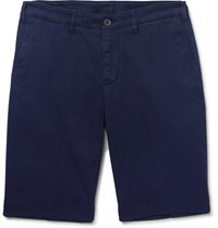 Canali Stretch Cotton Chino Shorts Navy