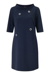 James Lakeland Eyelet Dress Navy