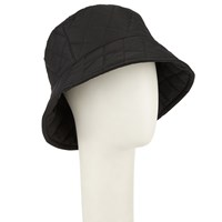 John Lewis Quilted Bucket Rain Hat Black