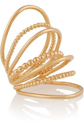 Arme De L'amour Gold Plated Multi Sphere Ring Metallic