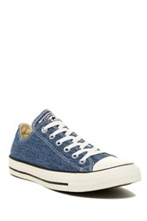 Converse Chuck Taylor R All Star R Washed Canvas Oxford Sneaker Unisex Blue