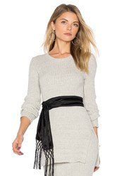 Bcbgeneration Split Sweater Gray