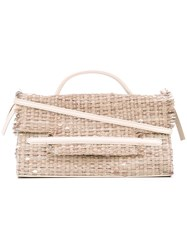 Zanellato Woven Satchel Women Leather Raffia One Size Nude Neutrals