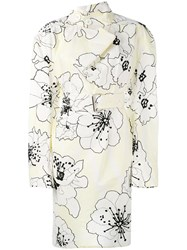 Marni Runway Posy Print Tunic Dress Women Cotton 40 White